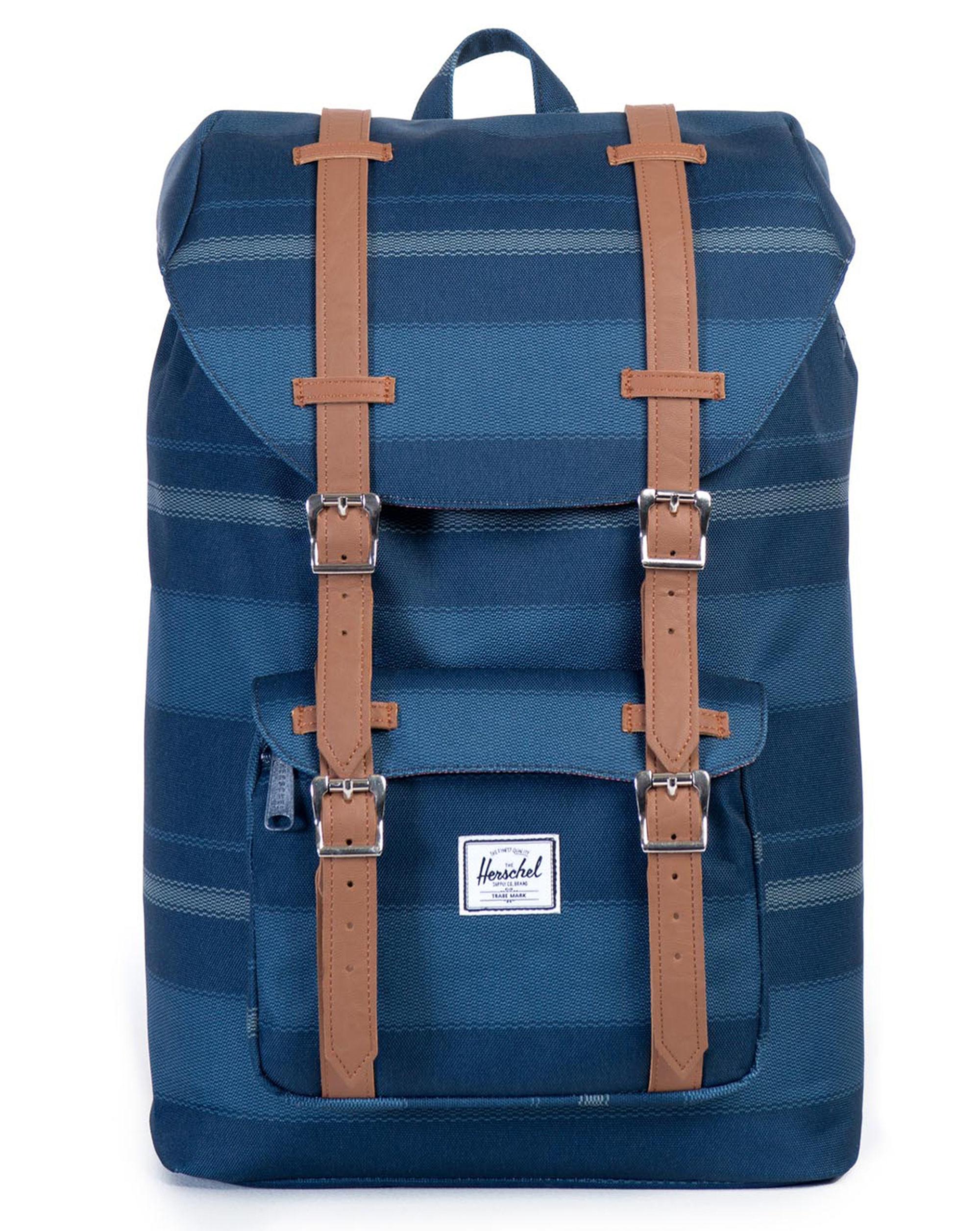 herschel supply co off white beige little america backpack mv 17 l in blue for men lyst. Black Bedroom Furniture Sets. Home Design Ideas