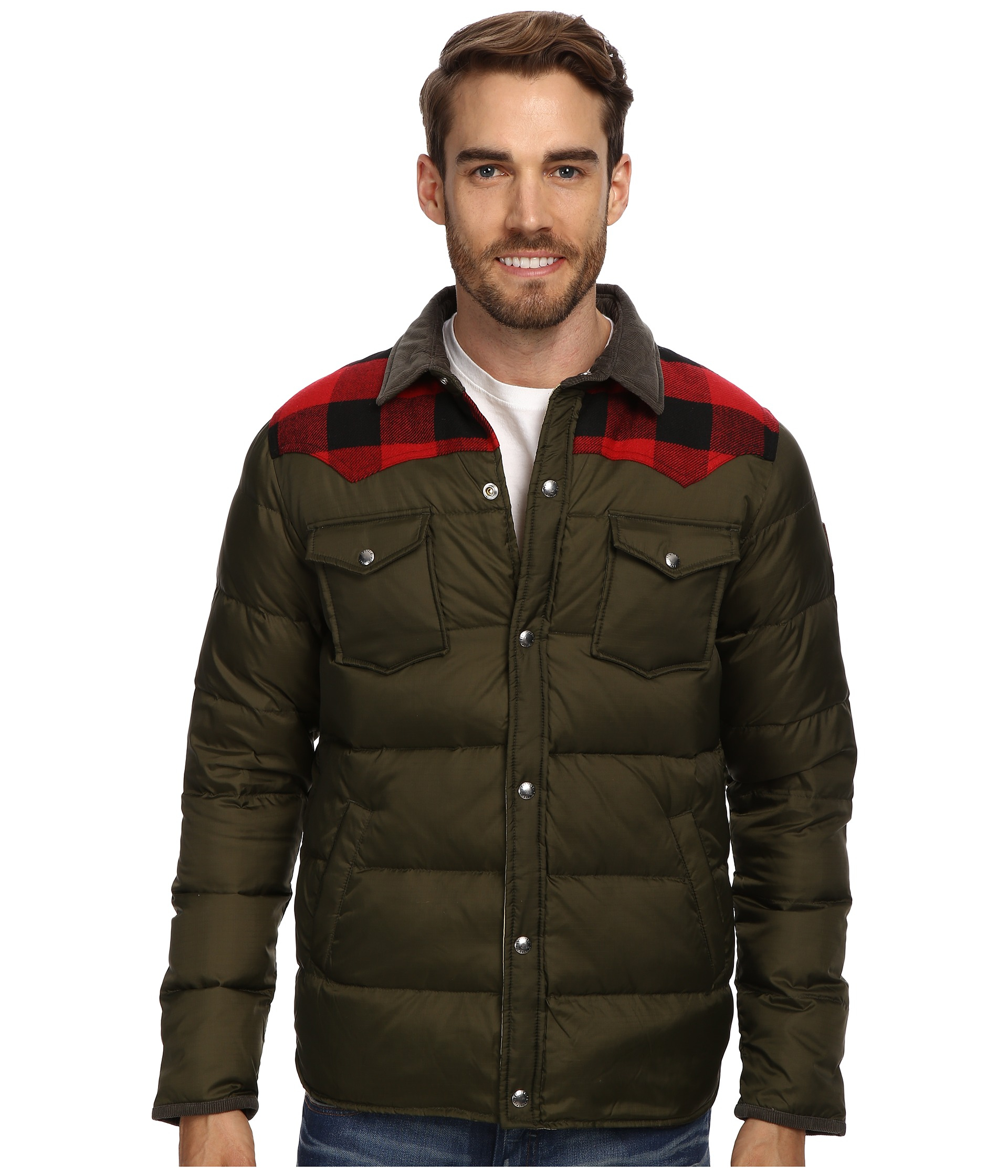 Penfield Rockford Down Insulated Jacket In Green For Men