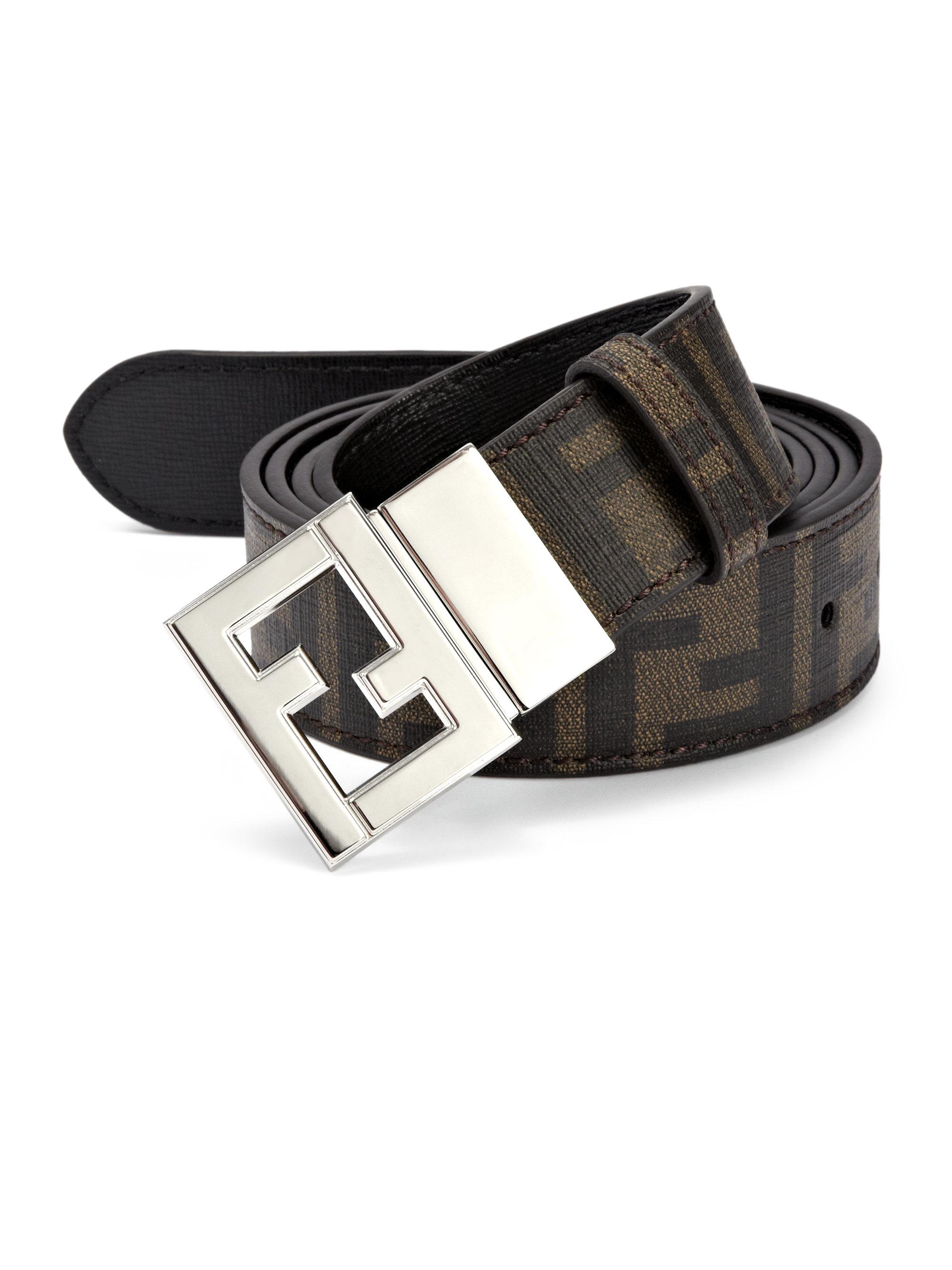 Lyst Fendi Reversible Belt In Brown For Men