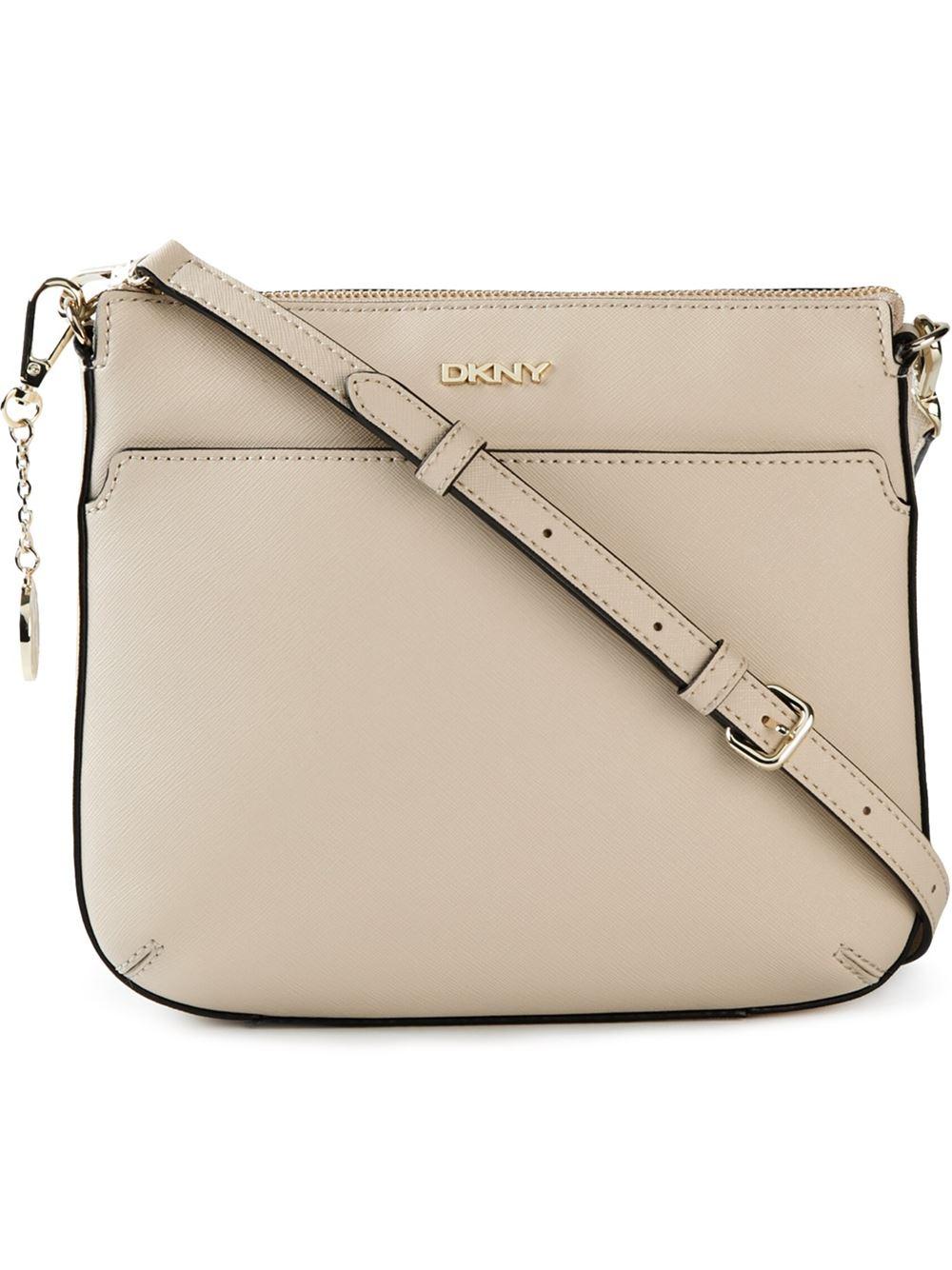 ea603227fa5 DKNY Top Zip Crossbody Bag in Natural - Lyst