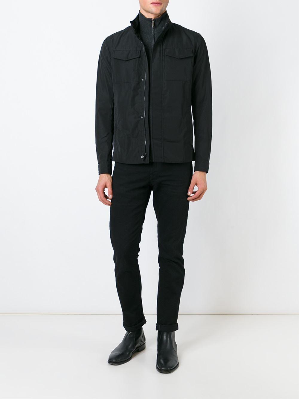 Michael Kors Flap Pockets Jacket in Black for Men