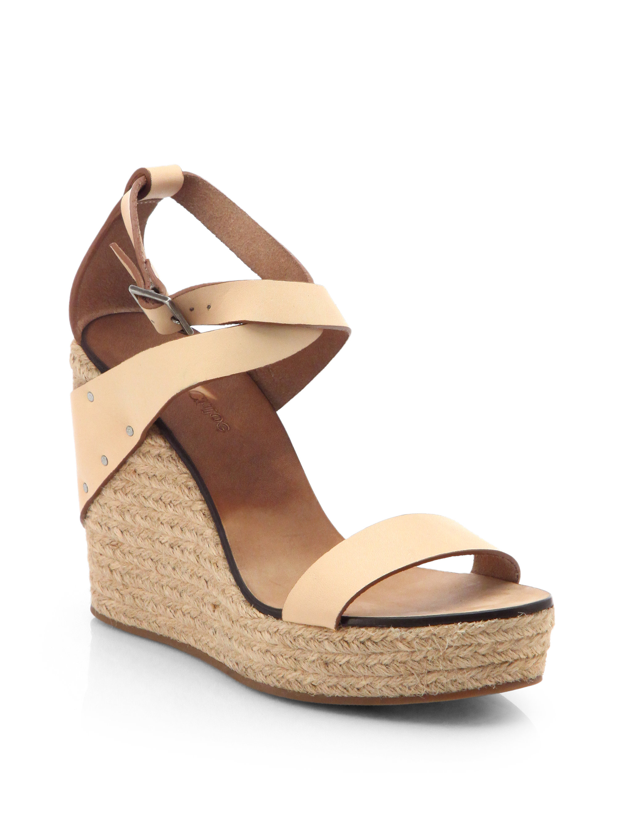 23295e772cfc1 Lyst - See By Chloé Leather Espadrille Wedge Sandals in Natural