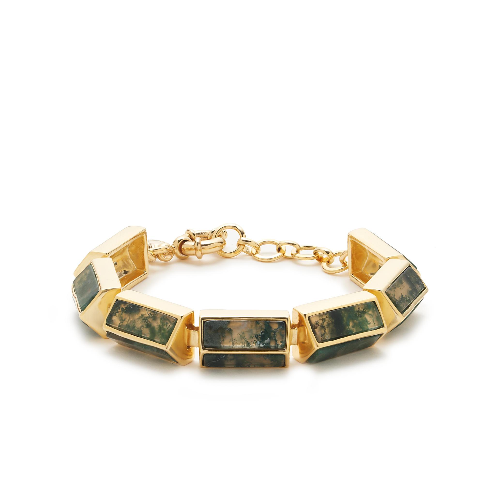 j crew cloudy agate bracelet in metallic lyst