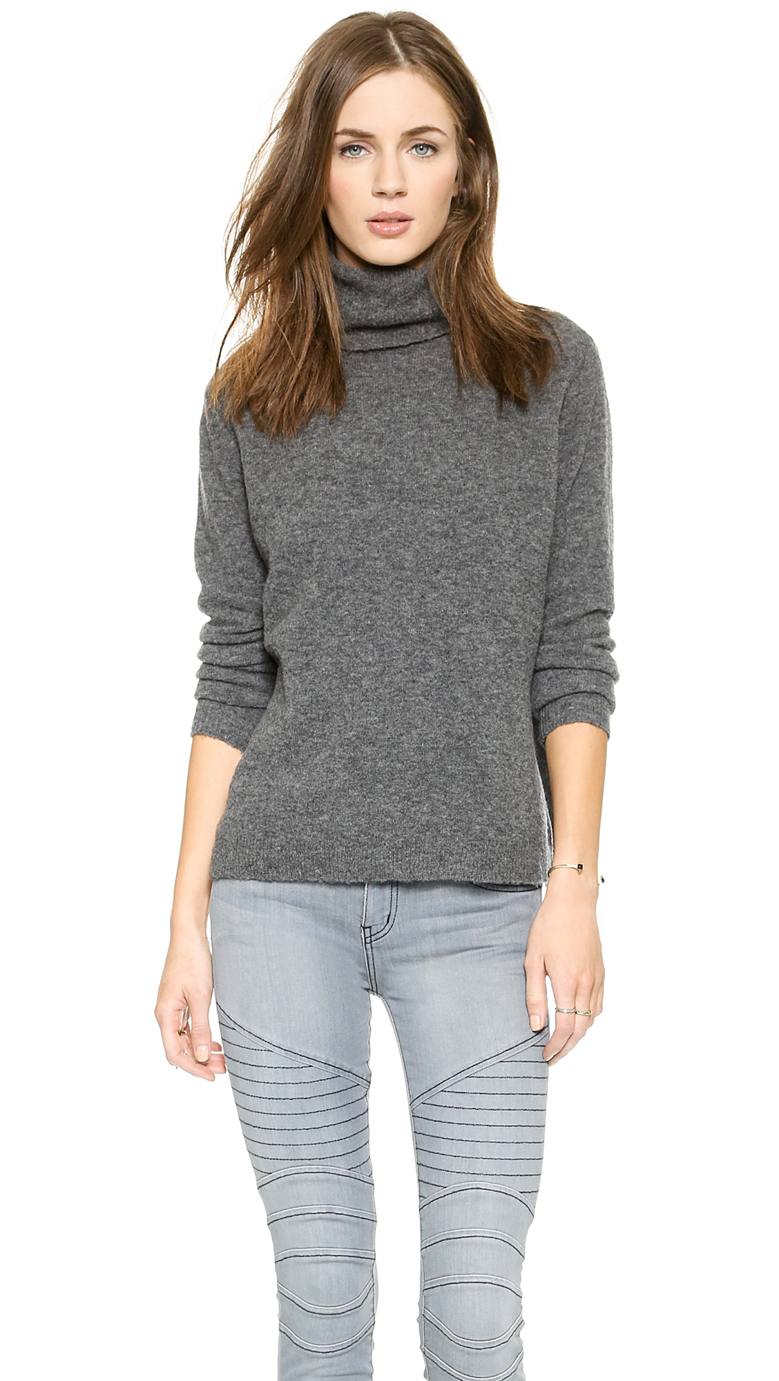 Joie Lizetta Sweater Dark Heather Grey In Gray Lyst