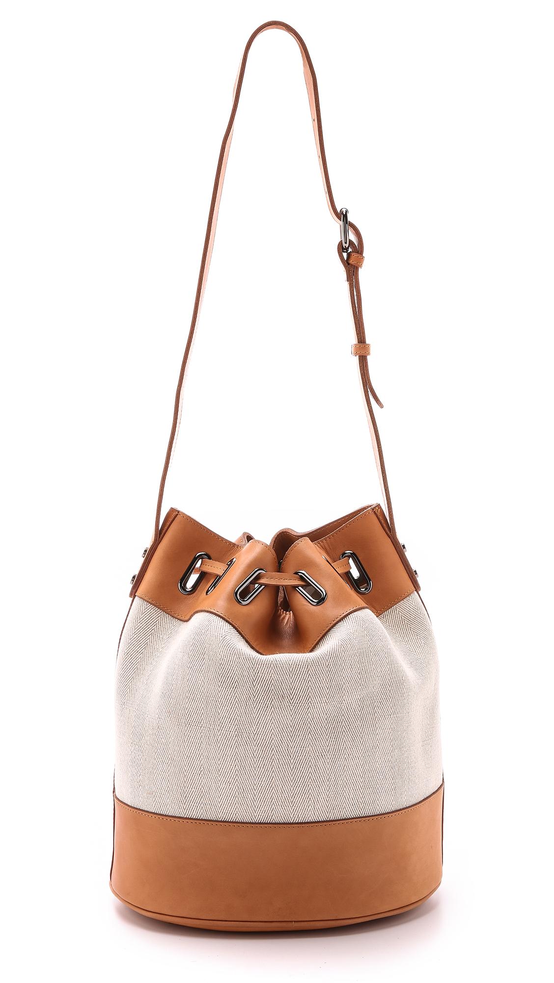 Zimmermann Drawstring Beach Bucket Bag - Tan in Brown | Lyst