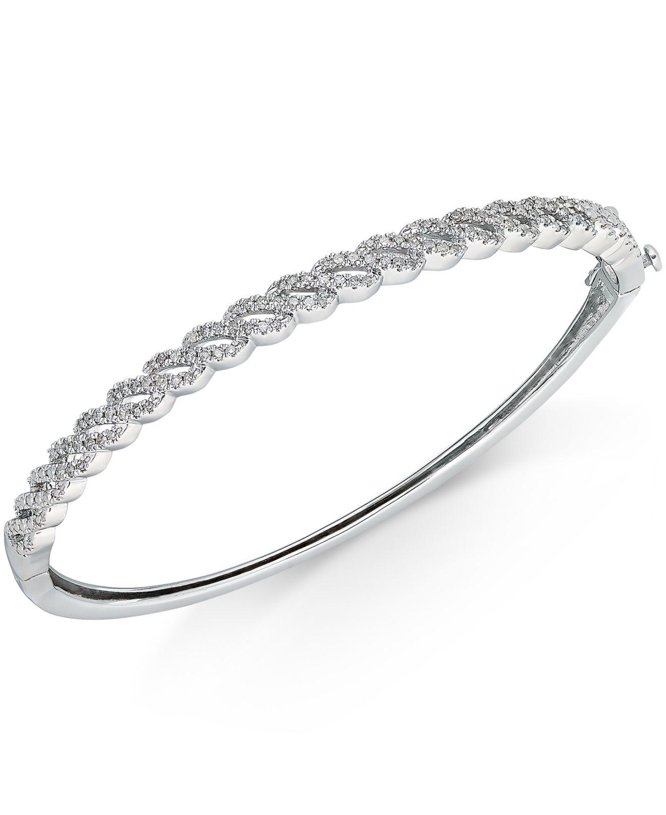 macy s mini loop bangle bracelet 1 2 ct t w in