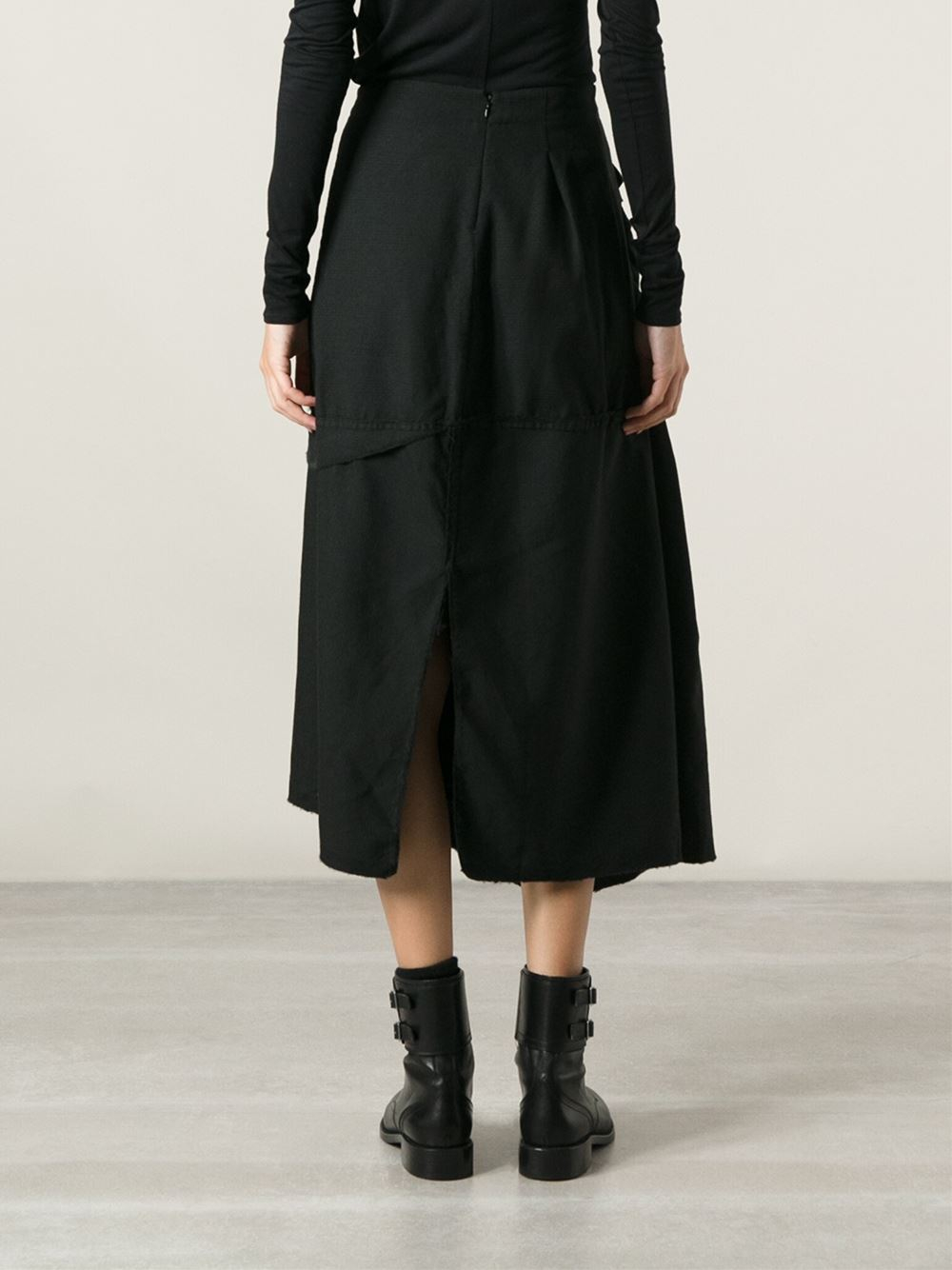 Marc Le Bihan Asymmetric Skirt in Black