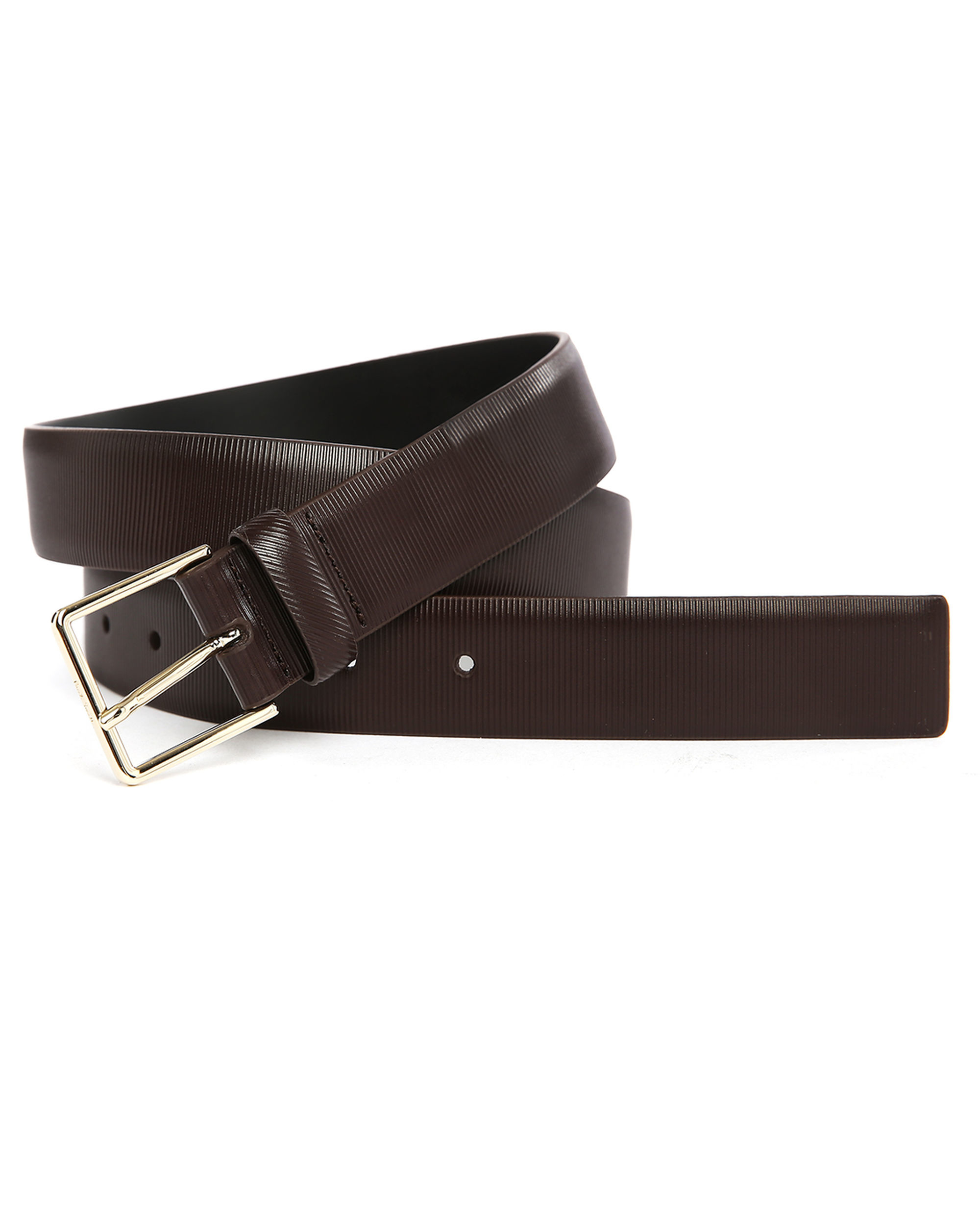 ps by paul smith brown striped leather belt in brown for