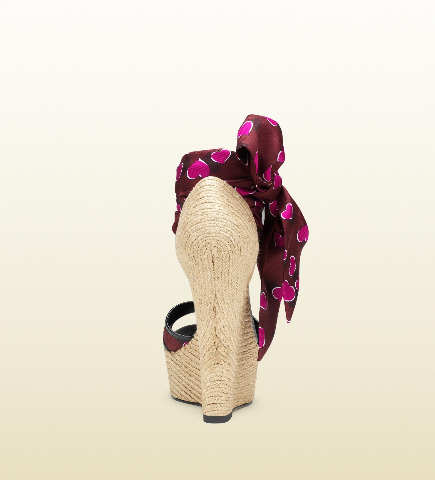 46f32e72849 Women's Purple Carolina Heartbeat Satin Tie Wedge Sandal