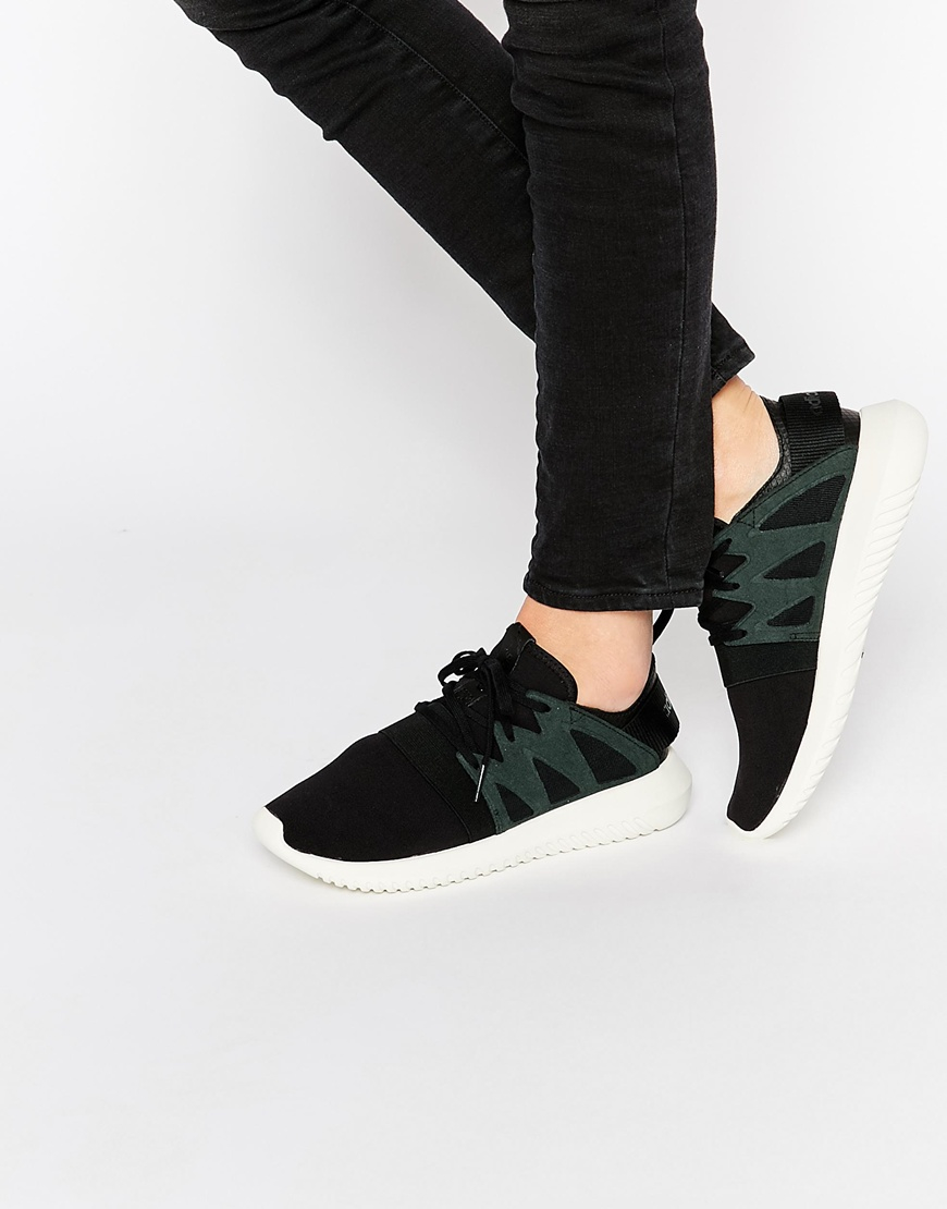 e23036dda199 Lyst - adidas Originals Originals Black Tubular Viral Trainers in Black