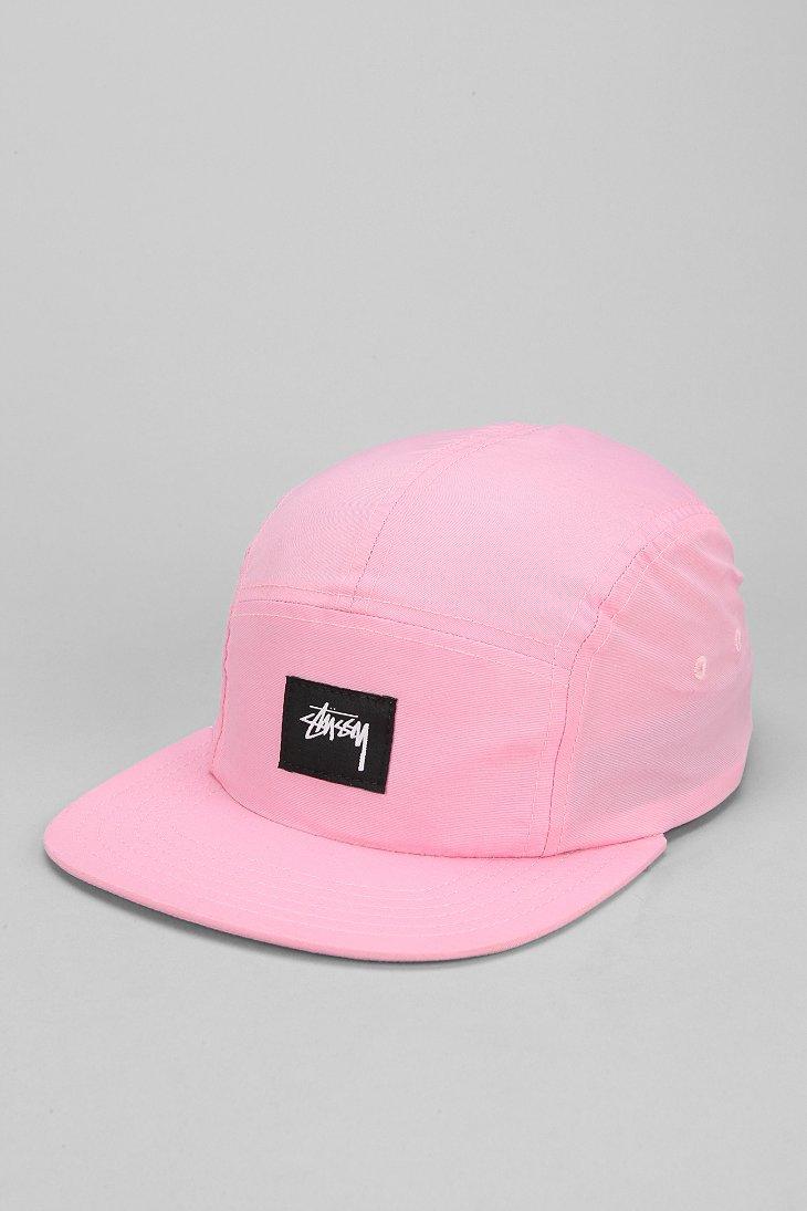 5703d0c8823 Lyst - Stussy Nylon Neon 5panel Hat in Pink for Men