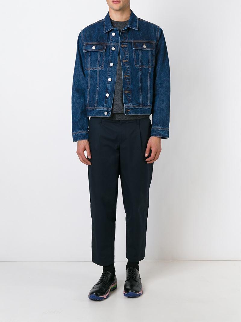 Kenzo Embroidered Denim Jacket In Blue For Men  Lyst