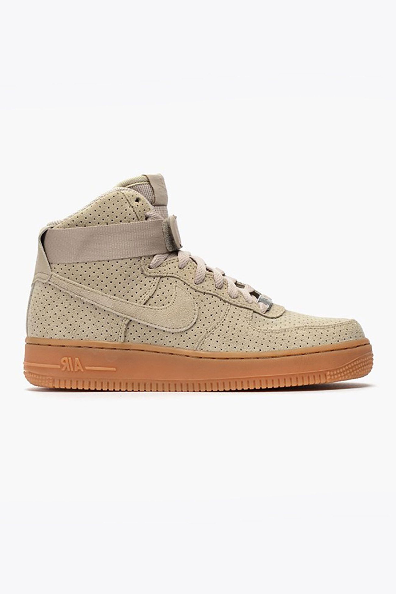 nike air force 1 high suede in beige lyst. Black Bedroom Furniture Sets. Home Design Ideas