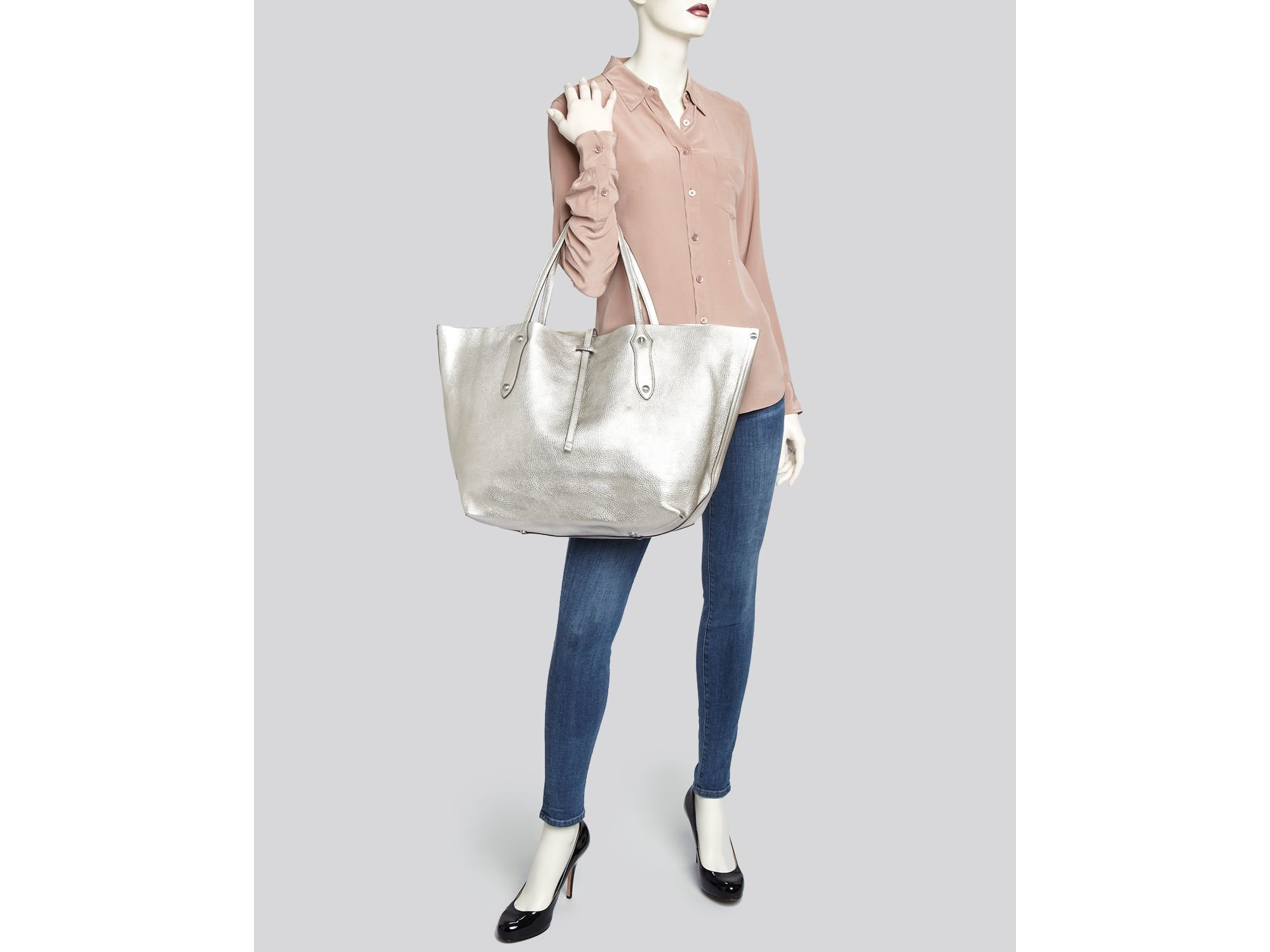 22fde4d15916 Annabel Ingall Tote - Large Metallic Isabella in Metallic - Lyst