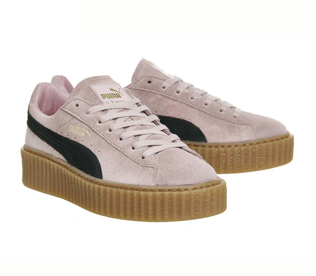 lyst puma suede creepers in pink. Black Bedroom Furniture Sets. Home Design Ideas