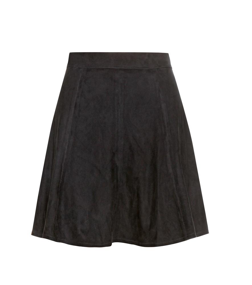 rag bone suki suede skirt in blue lyst
