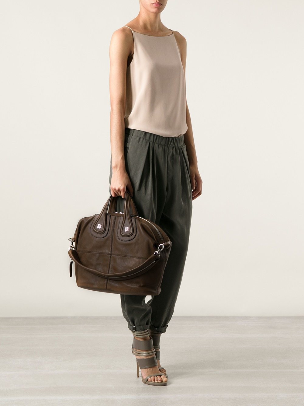 ae1dc0e22e Lyst - Givenchy Medium Nightingale Tote in Brown