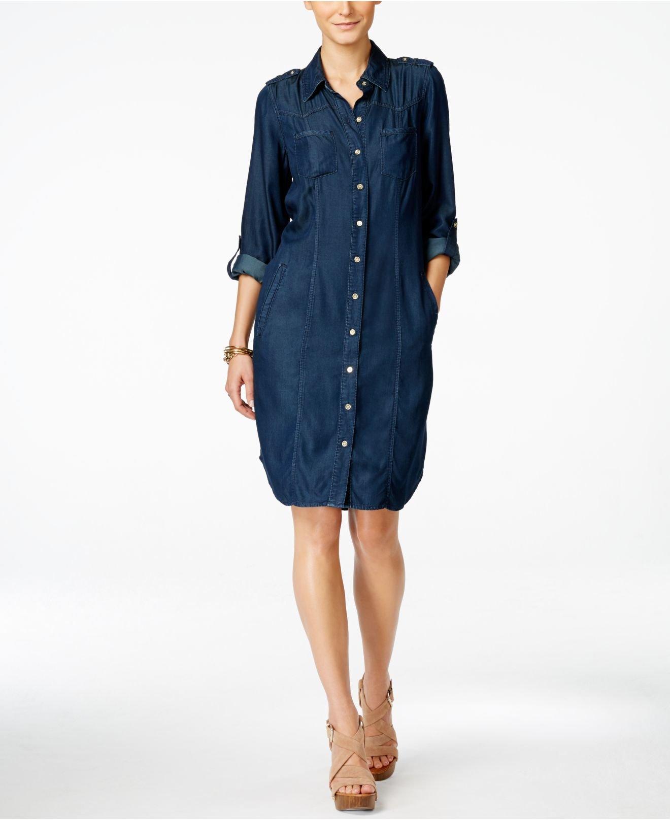 inc international concepts denim shirtdress only at macy