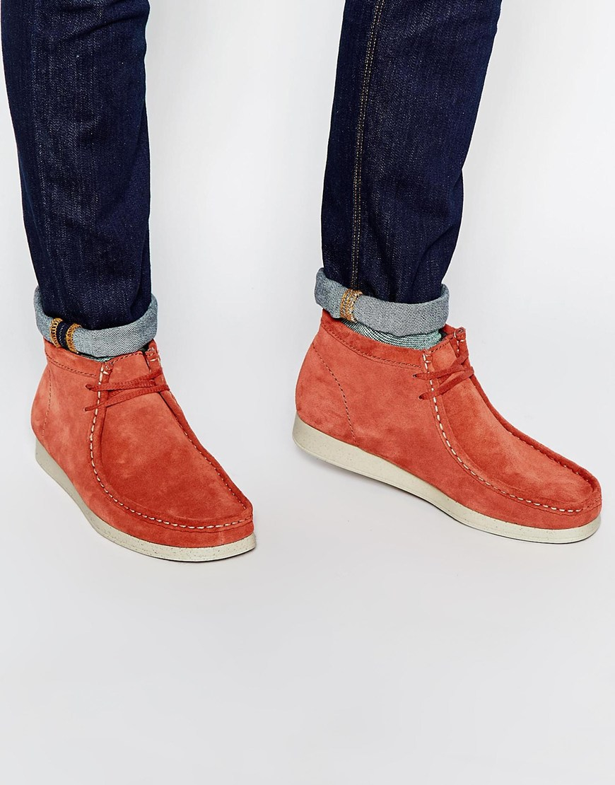 Lyst Clarks Aerial Wallabee Boots In Red For Men