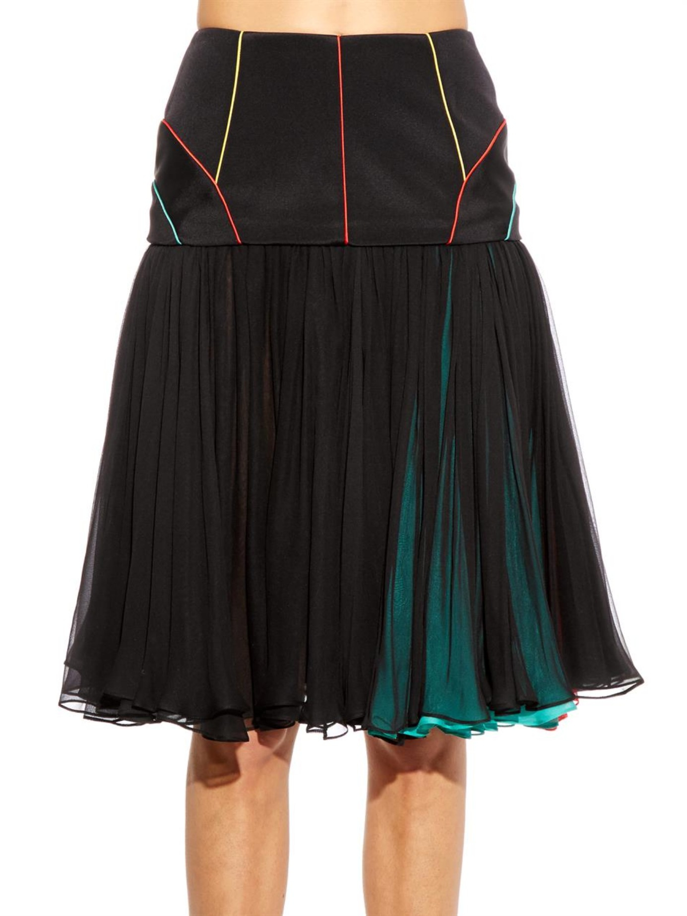 Sophie Theallet Dropped Waist Pleated Skirt In Black Lyst