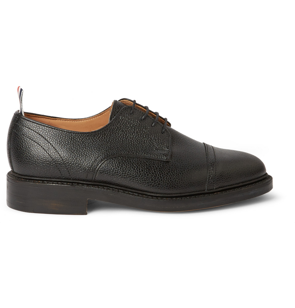 Pebbled-leather derby shoe Thom Browne z9GGVxeB