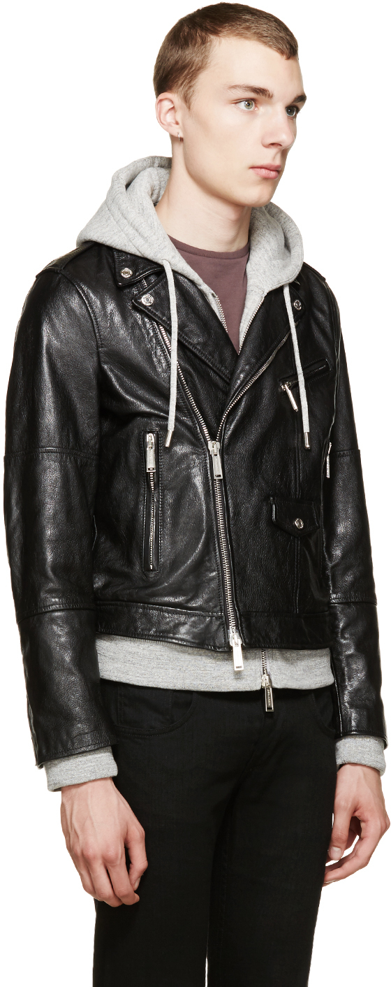 Leather jacket and hoodie - Gallery