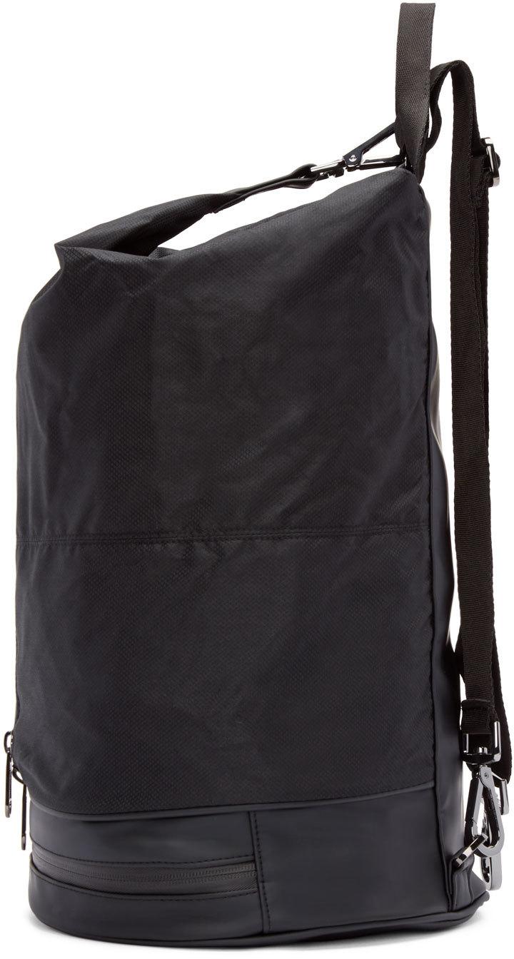 035552502f adidas By Stella McCartney Black Nylon Gymbag 5 Backpack in Black - Lyst