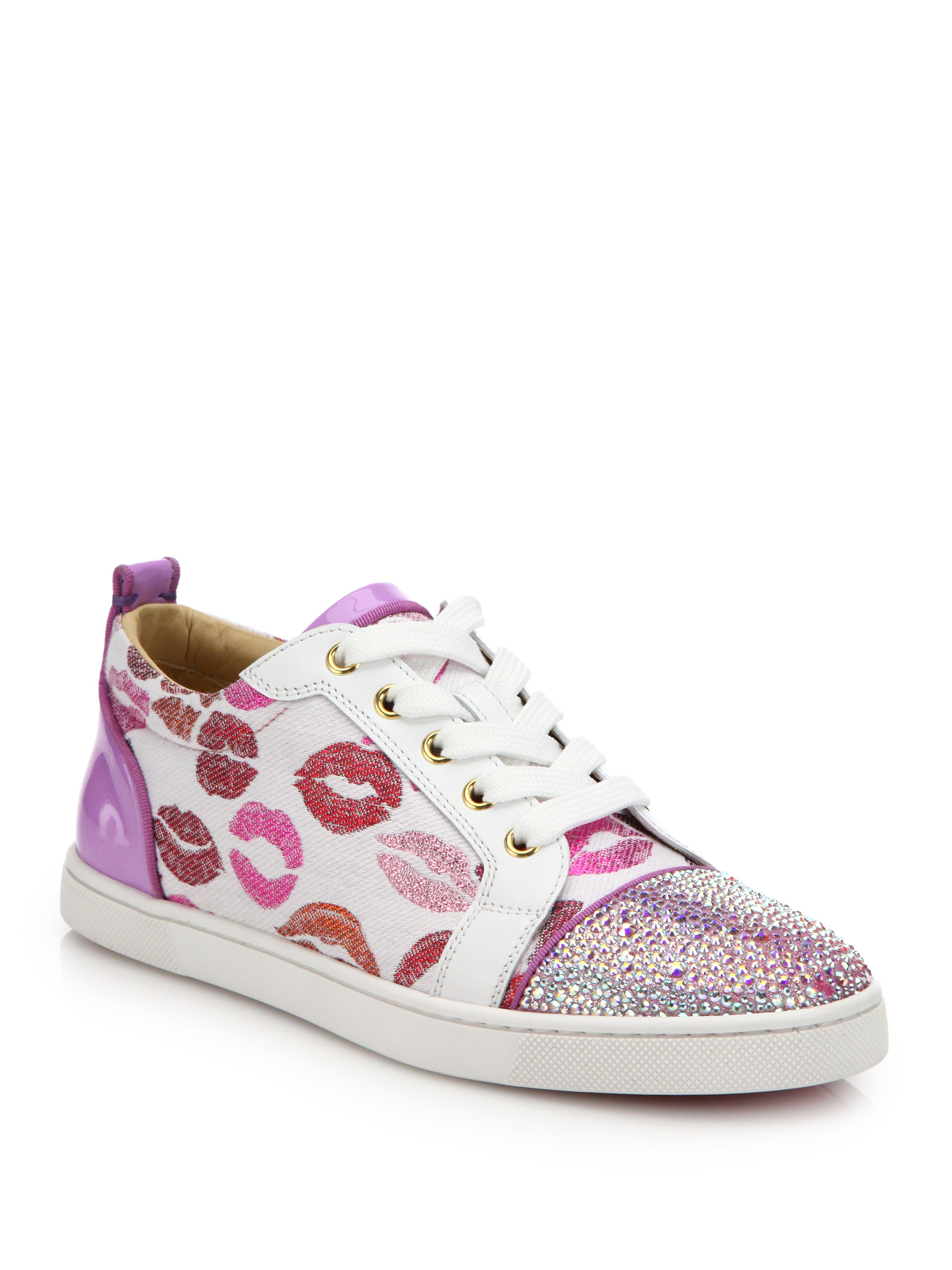 christian louboutin low top lip sneakers lyst. Black Bedroom Furniture Sets. Home Design Ideas