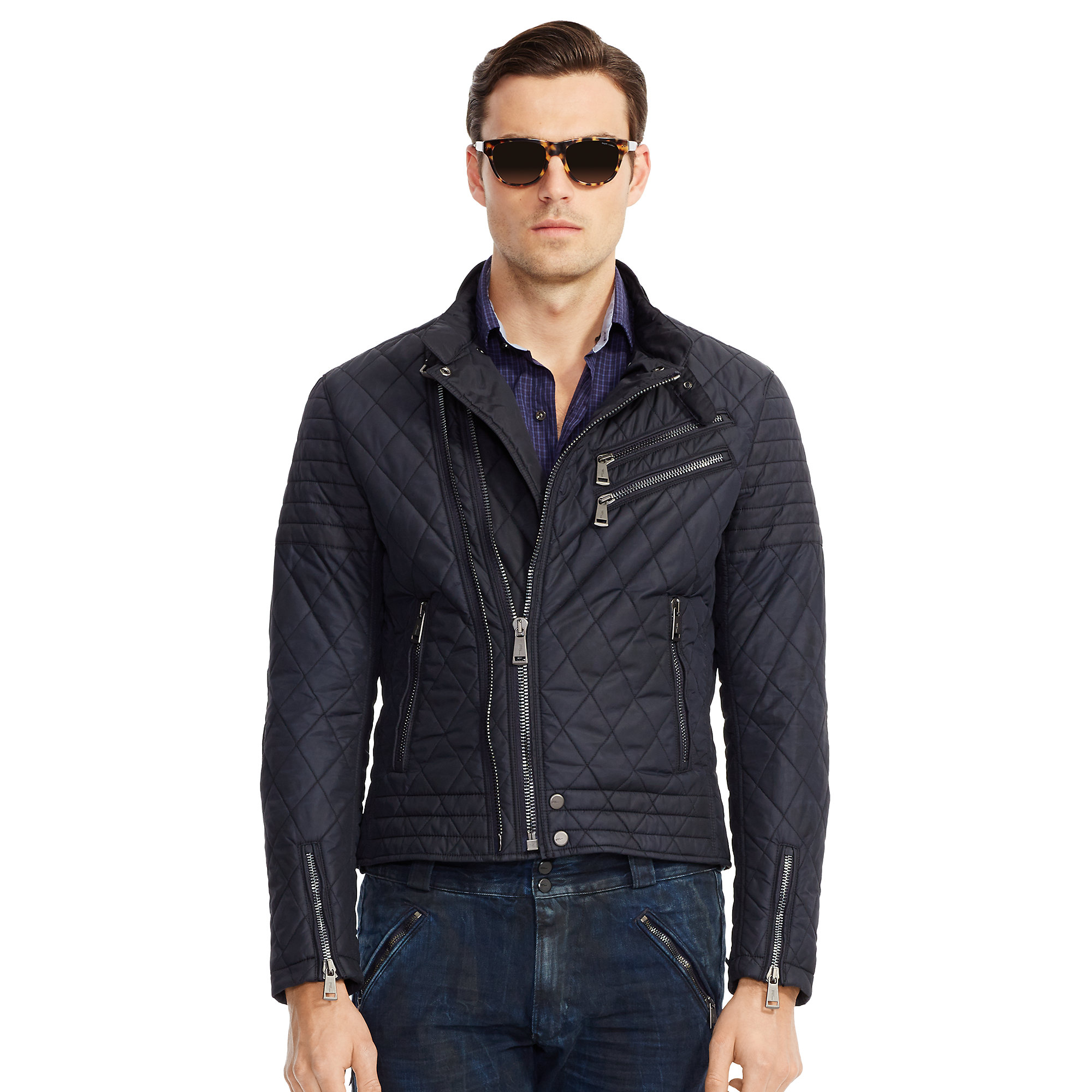 This is a photo of Nifty Ralph Lauren Black Label Commander Jacket