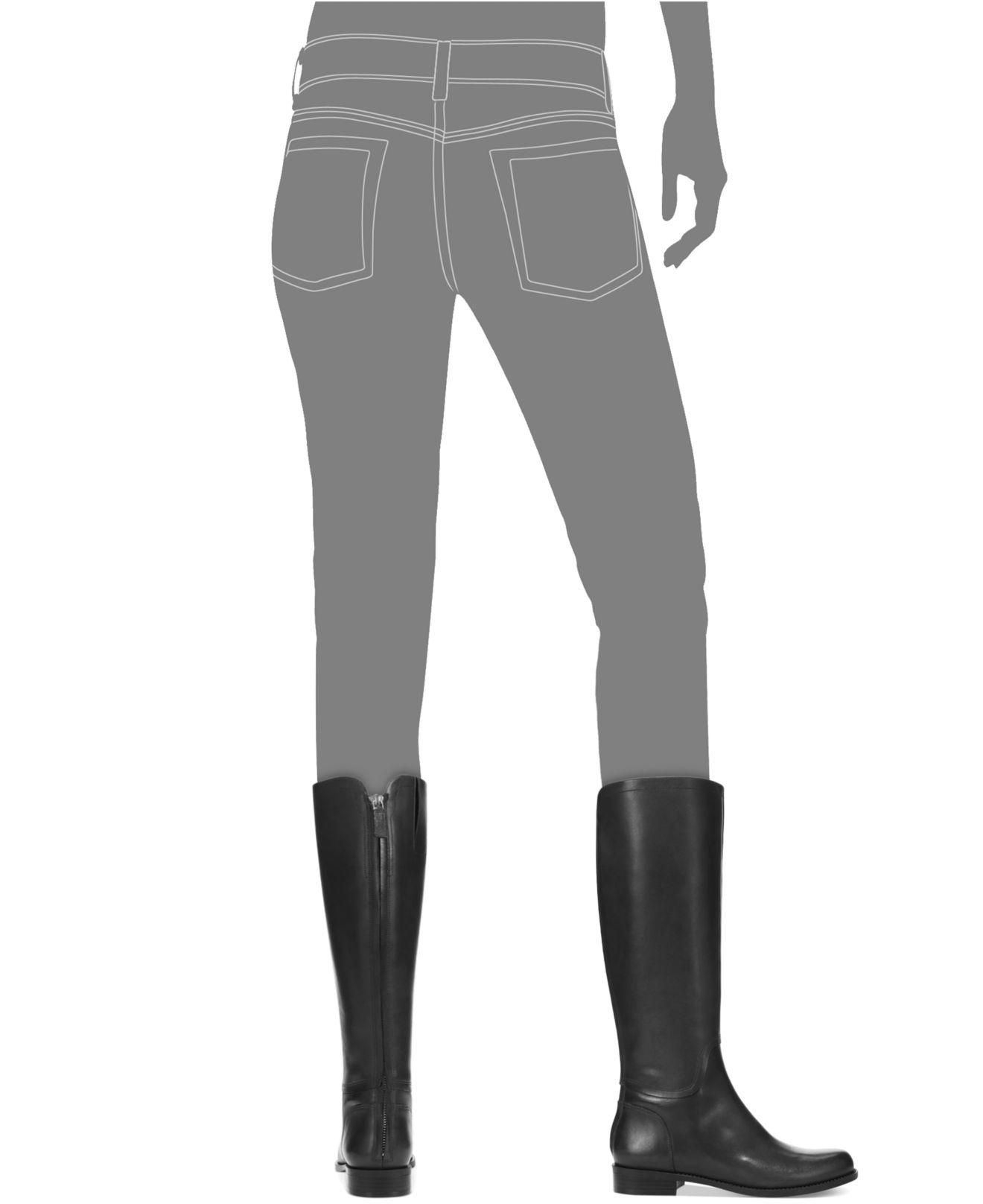 5760b4df94df Lyst - Nine West Contigua Tall Riding Boots in Black