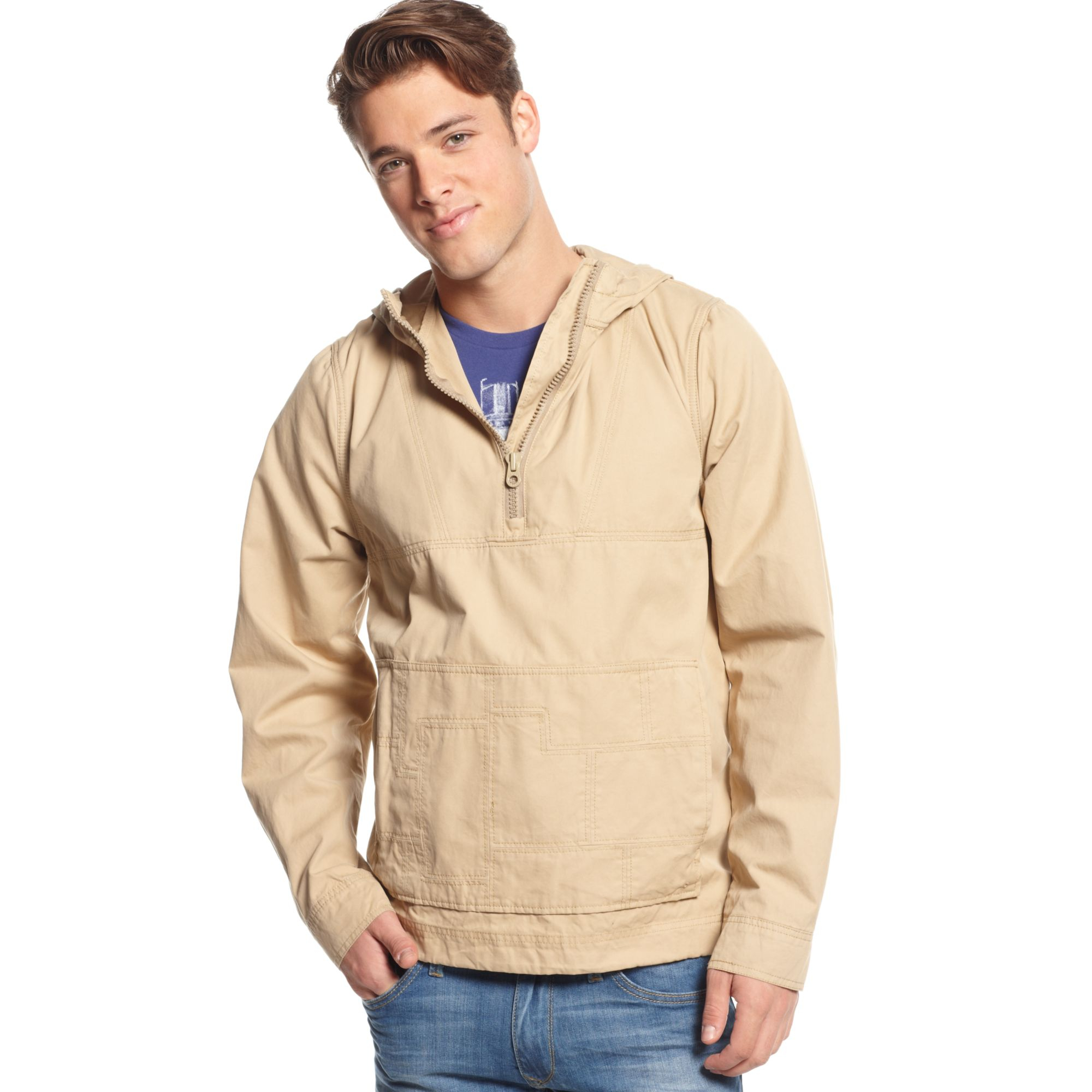 Tommy hilfiger Nicholas Hooded Pullover Anorak Jacket in Natural ...