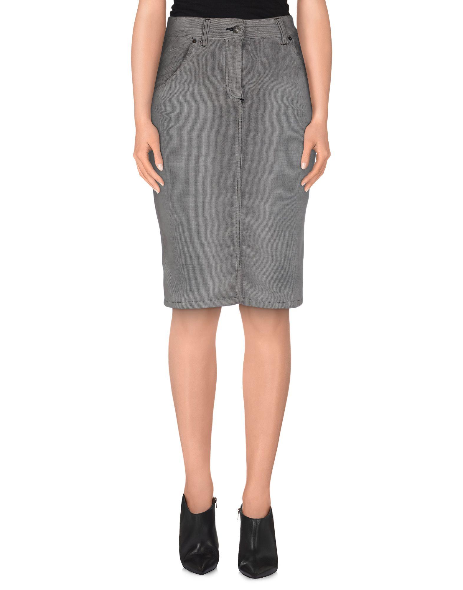 Grey Denim Skirt 108