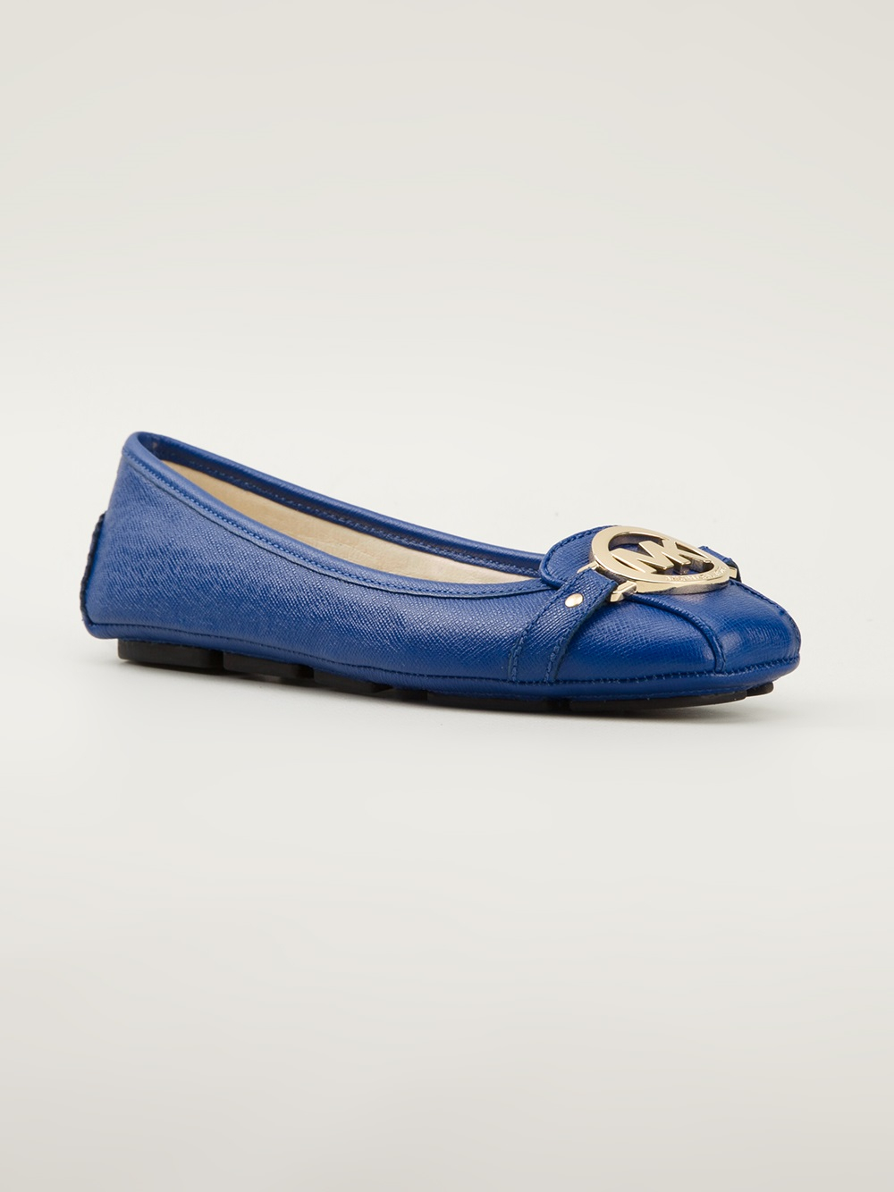michael michael kors 39 fulton moc 39 ballerinas in blue lyst. Black Bedroom Furniture Sets. Home Design Ideas