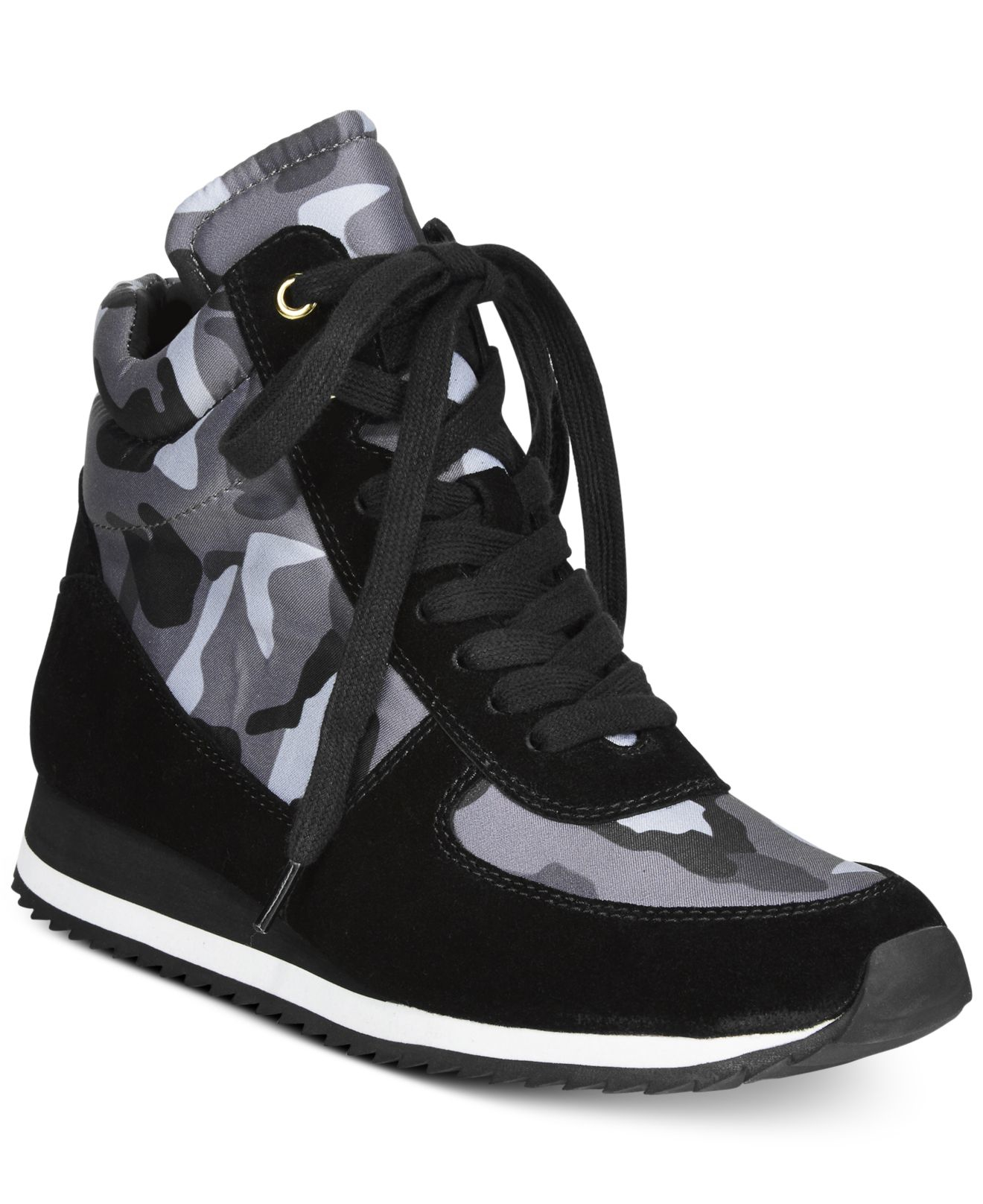 bella vita enice high top sneakers in black black camo lyst. Black Bedroom Furniture Sets. Home Design Ideas