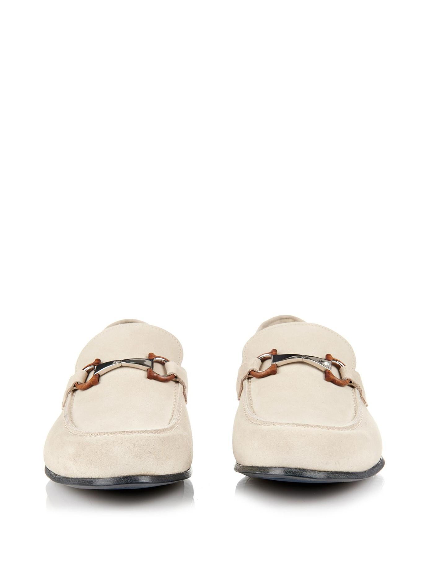 05b404599d215 Ferragamo Nepal Suede Loafers in White for Men - Lyst