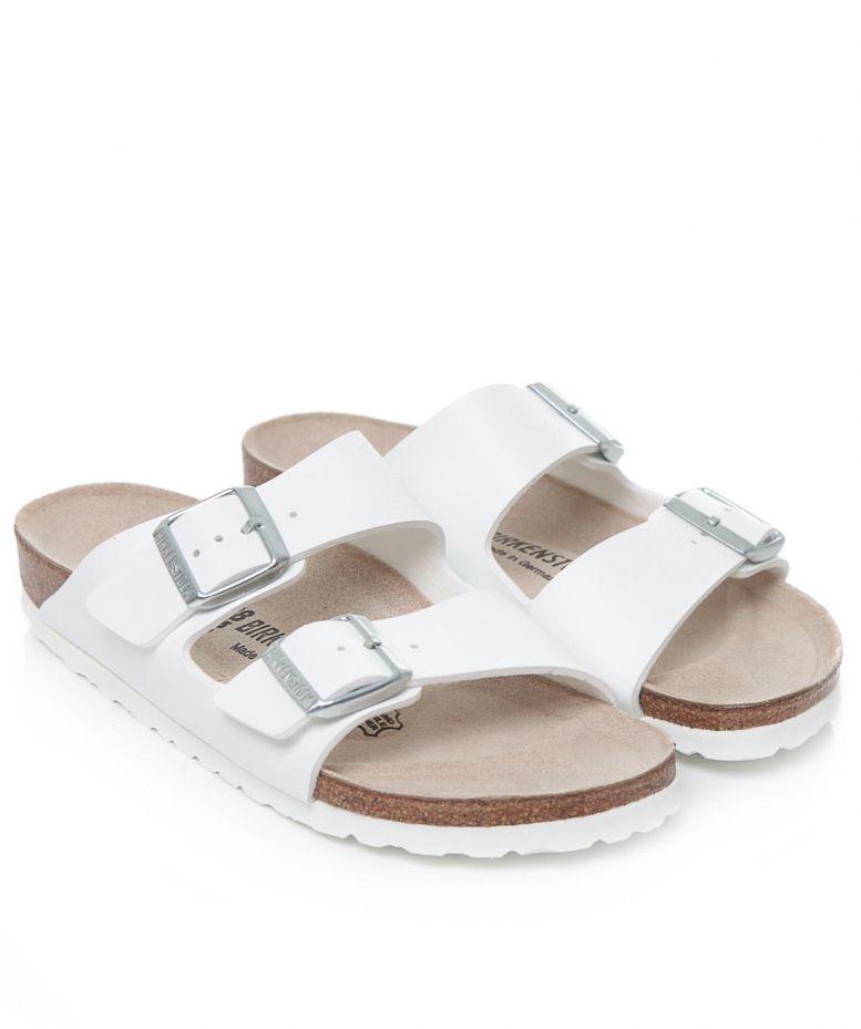 Innovative Home  Birkenstock Madrid Womens Slip On Synthetic Sandals White
