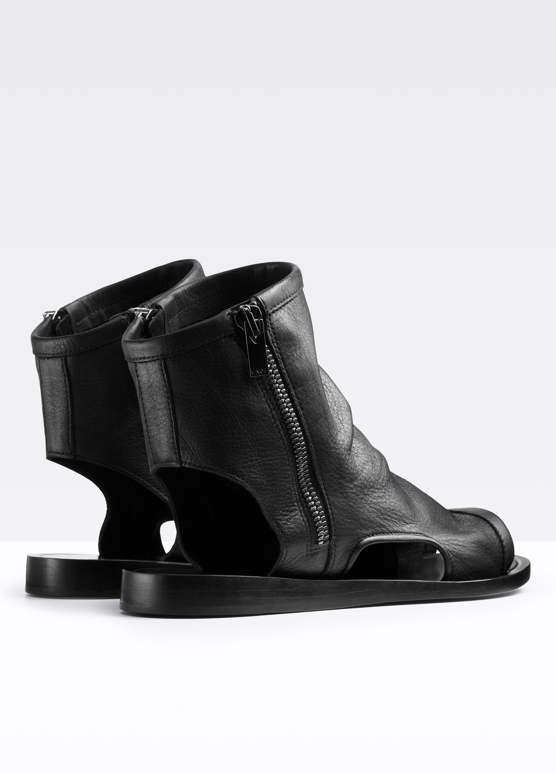 Lyst Vince Taylor Cut Out Sandal Bootie In Black