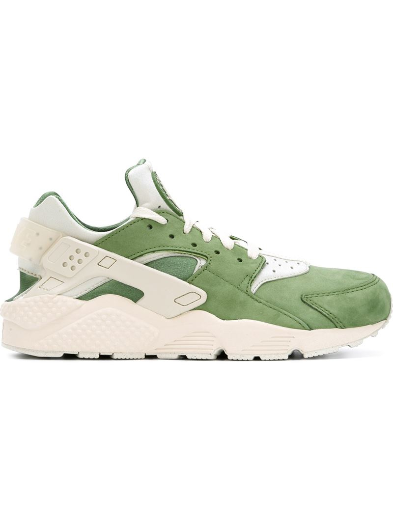 nike air huarache sneakers in green for lyst