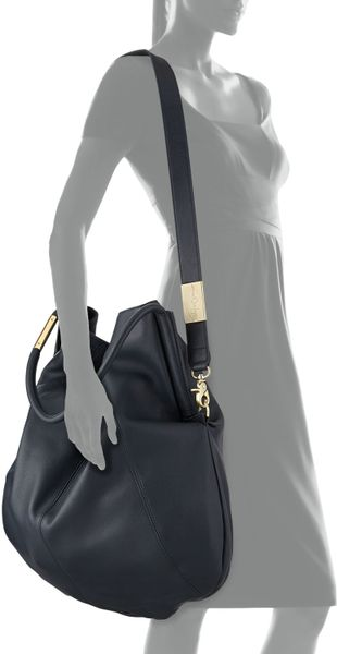 ... Corinna Foley Corinna Southside Leather Hobo Bag Navy in Blue (navy