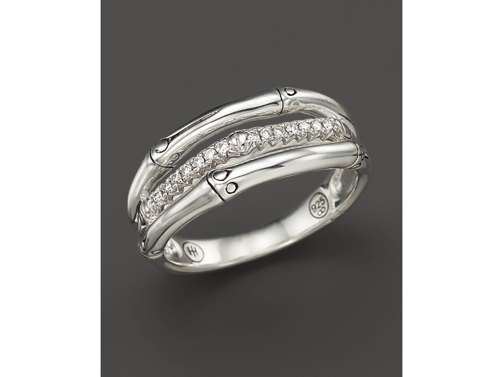 John Hardy Bamboo Ring With Pearl And Diamonds 0qkOE6