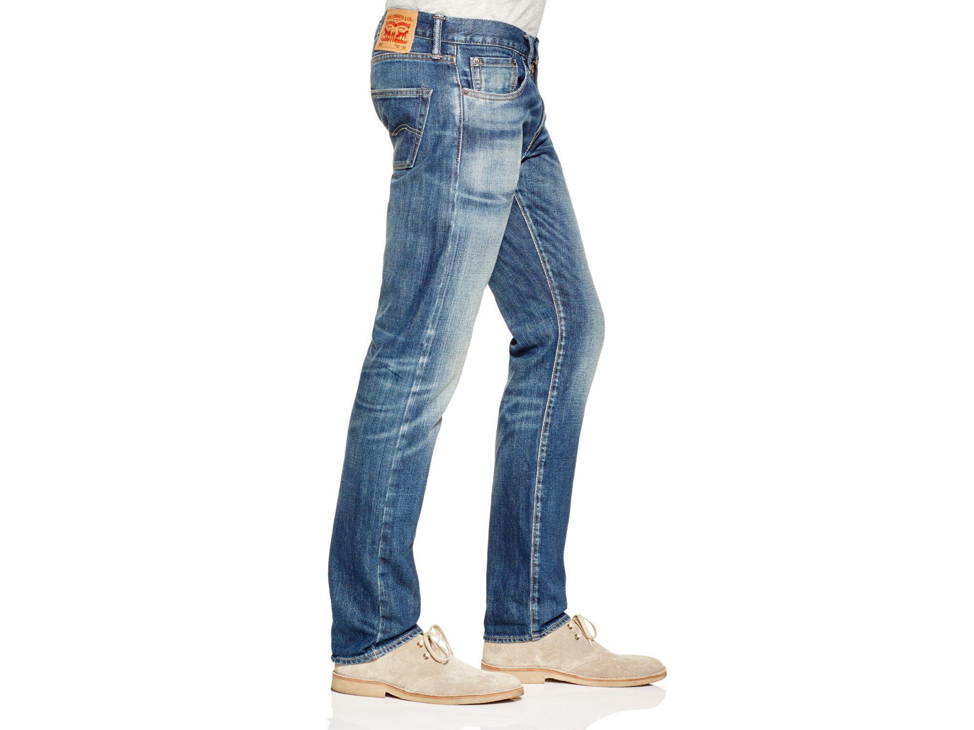 Levi's Denim 511 Slim Fit Jeans In Stokes Castle in Blue for Men