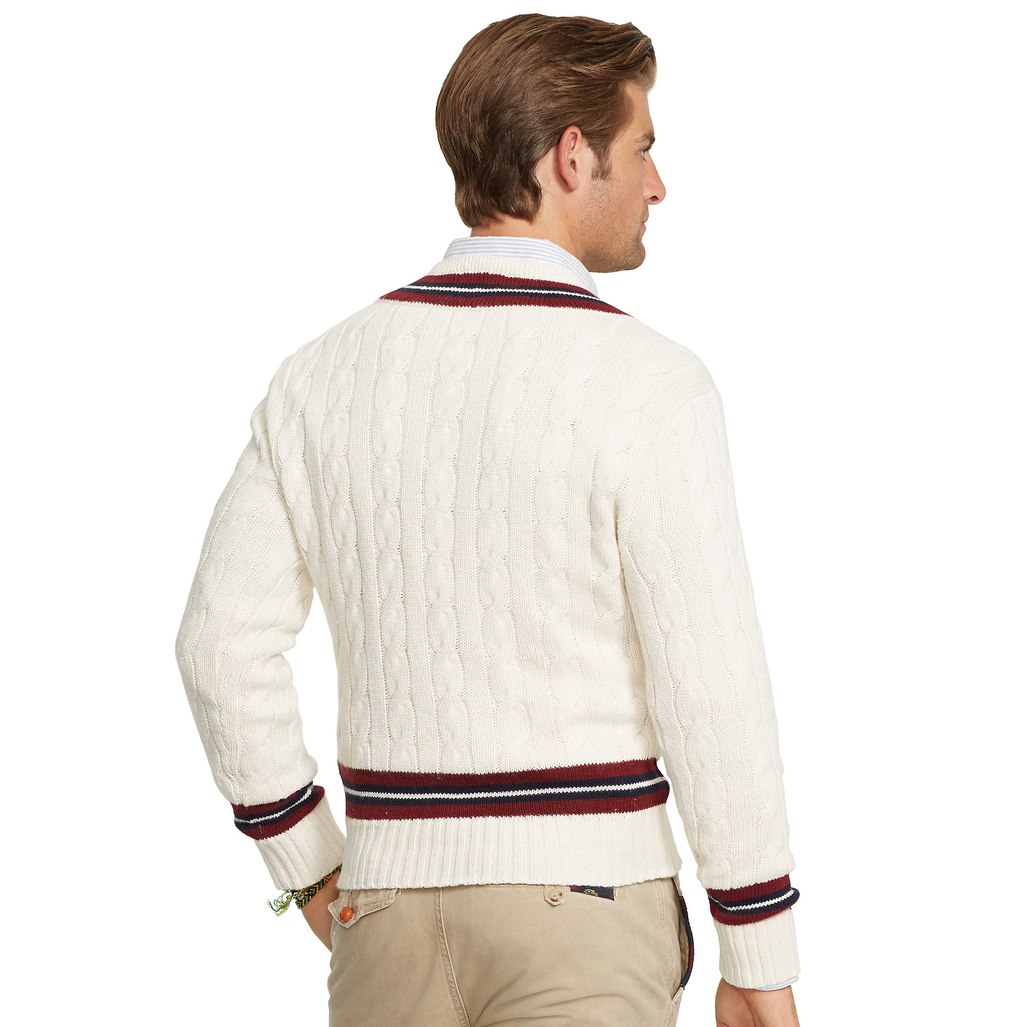 Lyst Polo Ralph Lauren Cotton Blend Cricket Sweater In