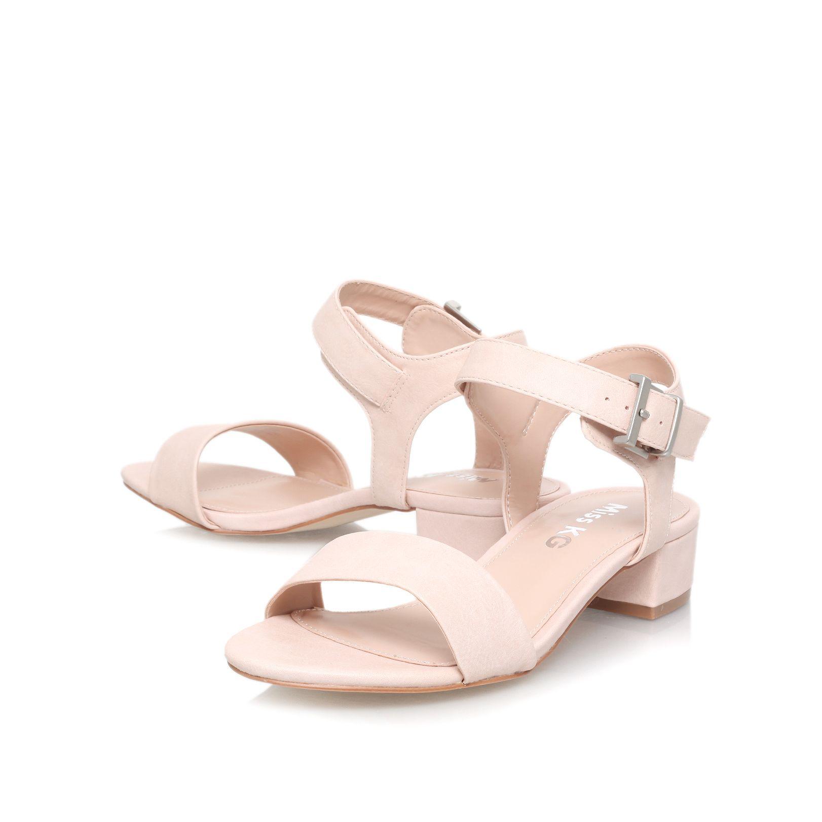 Miss kg Pamela Low Heel Sandals in Natural | Lyst