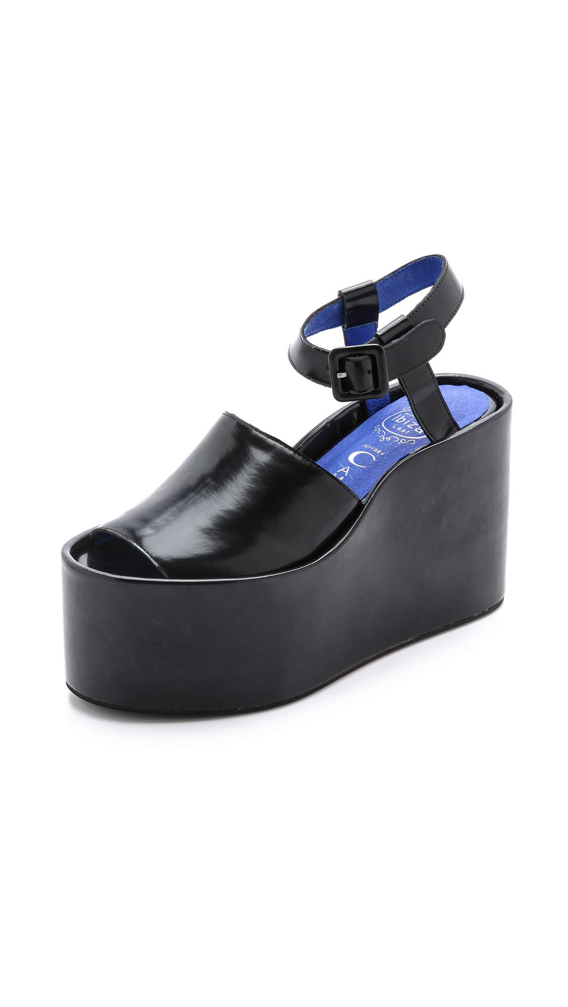 jeffrey cbell chynna flatform sandals black in black
