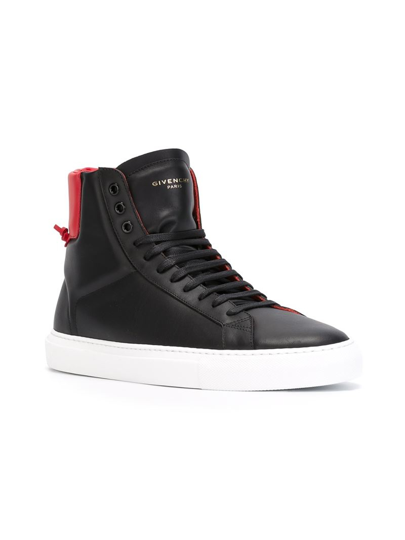 Givenchy Classic Leather High-Top Sneakers in Black for ...