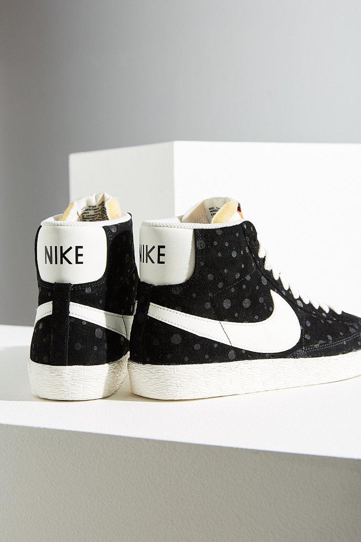 838f1ada728b Lyst - Nike Women s Blazer Mid Suede Vintage Sneaker in Black