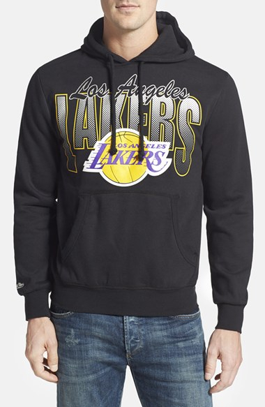 Mitchell ness 39 los angeles lakers 39 tailored fit hoodie for Custom dress shirts los angeles