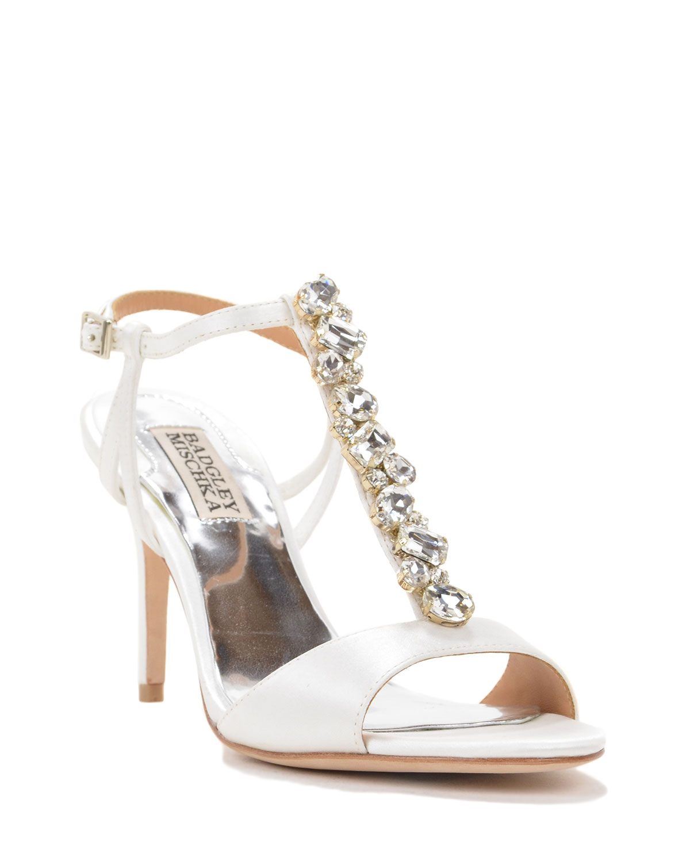 badgley mischka martina t evening shoe in white lyst