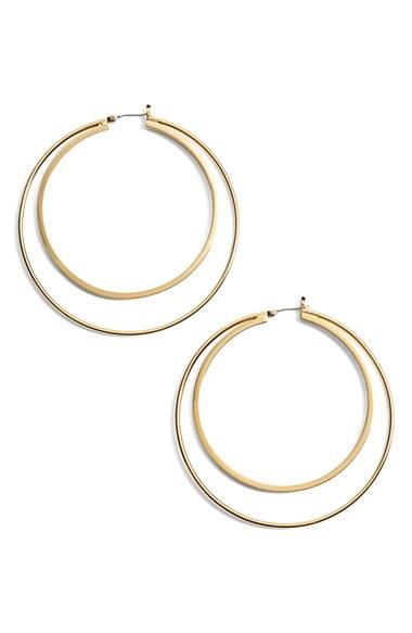 Lyst Trina Turk Large Double Hoop Earrings In Metallic
