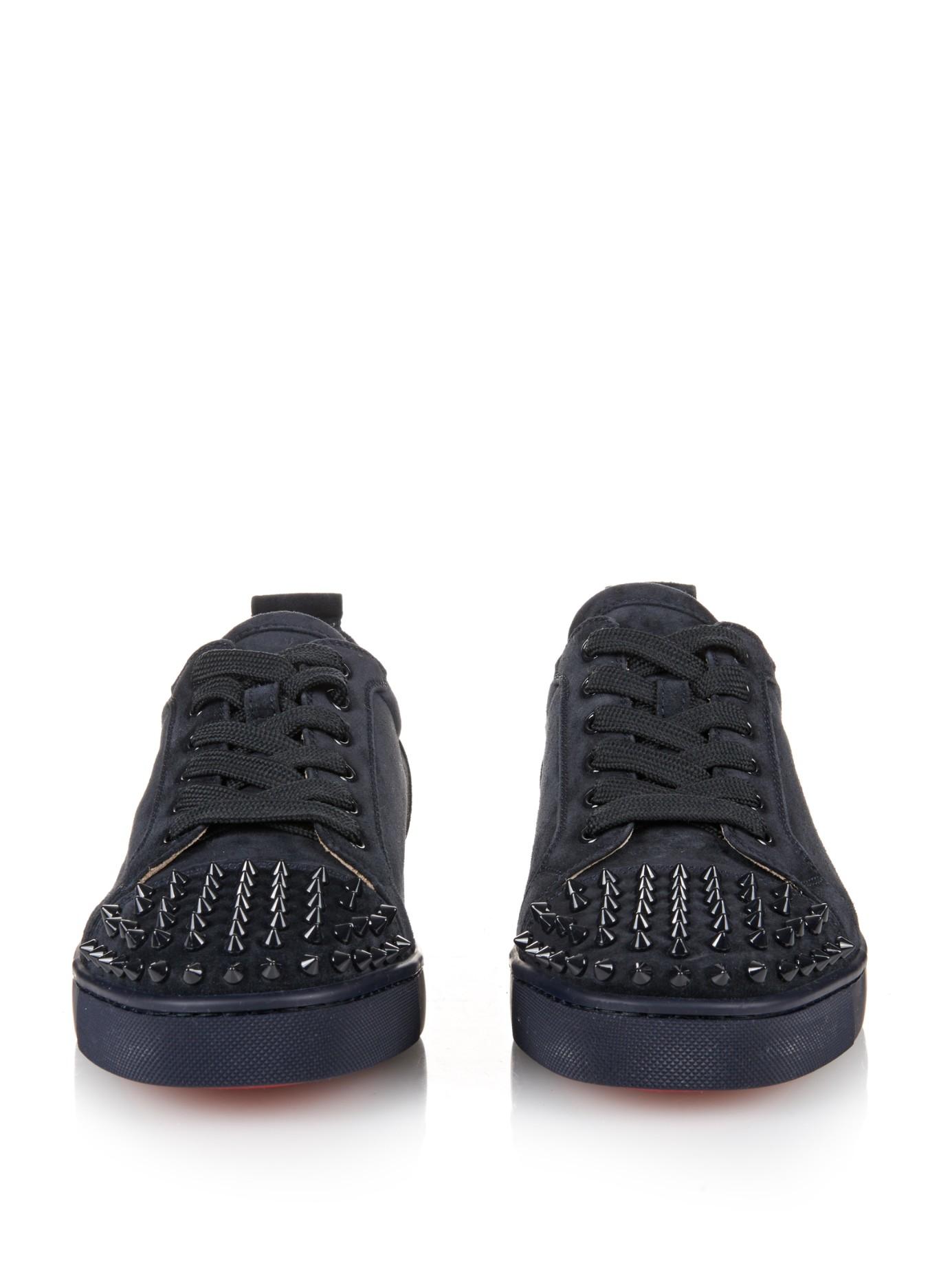 check out da10b 2fc1c Men's Blue Louis Suede Low-Top Sneakers